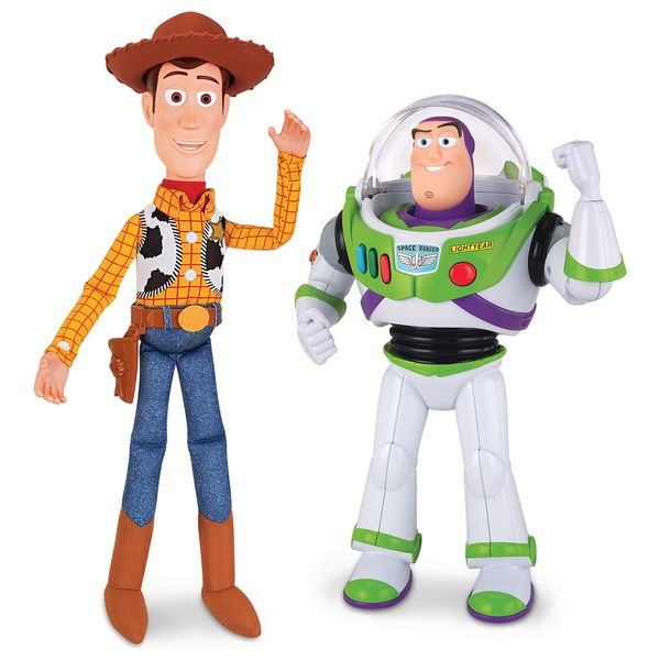 Toy Story Figures : Toy story buzz and woody talking action figures