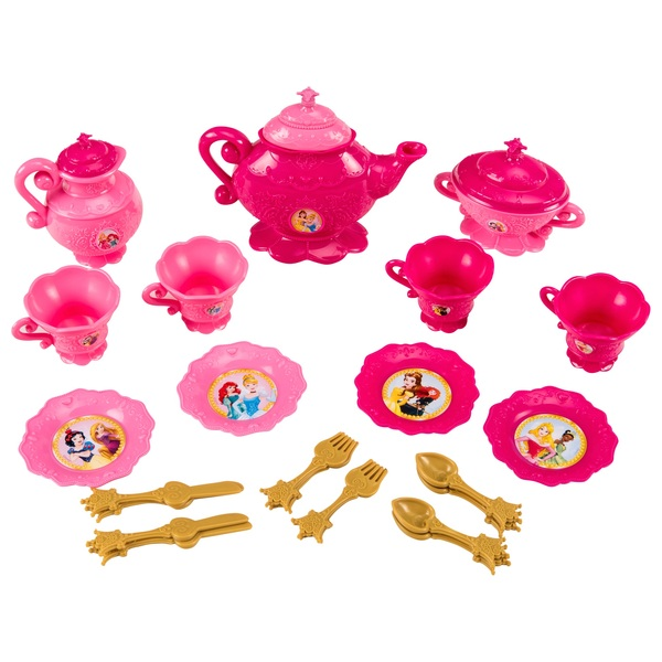 Disney Princess 26 piece Dinnerware Set  sc 1 st  Smyths Toys : princess dinnerware - Pezcame.Com