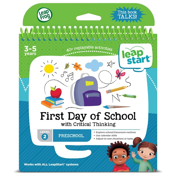 LeapFrog LeapStart Preschool Activity Book: First Day of School and Critica