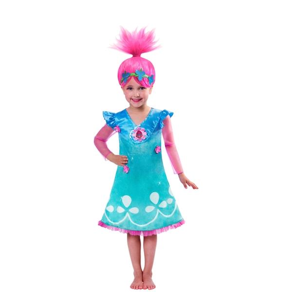 Trolls Poppy Dress and Wig Costume - Assortment