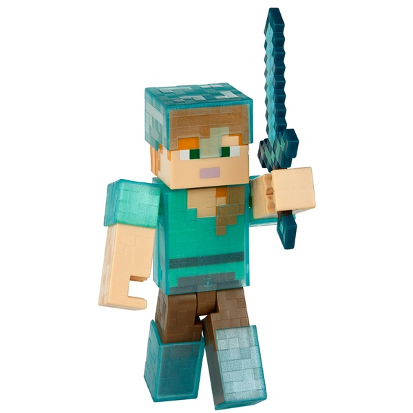 Minecraft Mining Diamond Armor Alex 13cm Figure