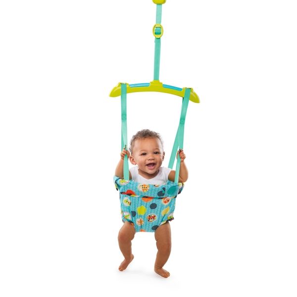 Bright starts kaleidoscope safari baby door jumper for Door jumperoo