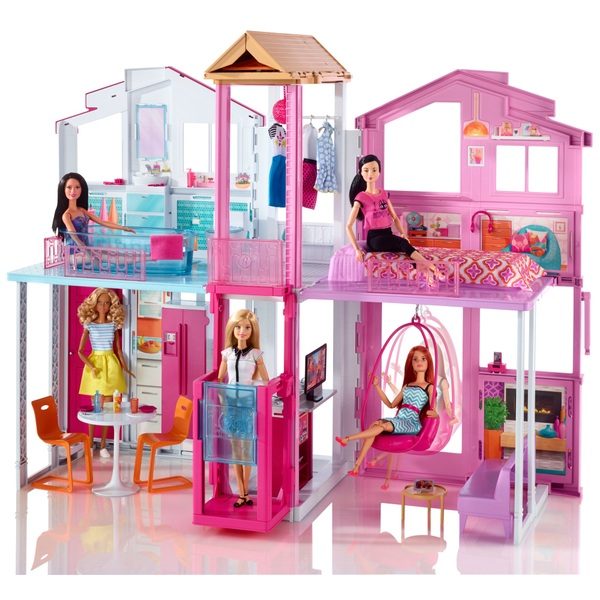 Cheap Townhouses: Barbie 3 Story Townhouse