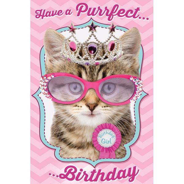 Kitten Birthday Girl Card