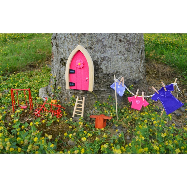 Irish fairy door pink arch sparkle fairies ireland for My irish fairy door