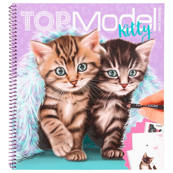 Create Your TOPModel Kitty - Colouring Book