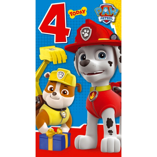 PAW Patrol Age 4 Birthday Card Assortment