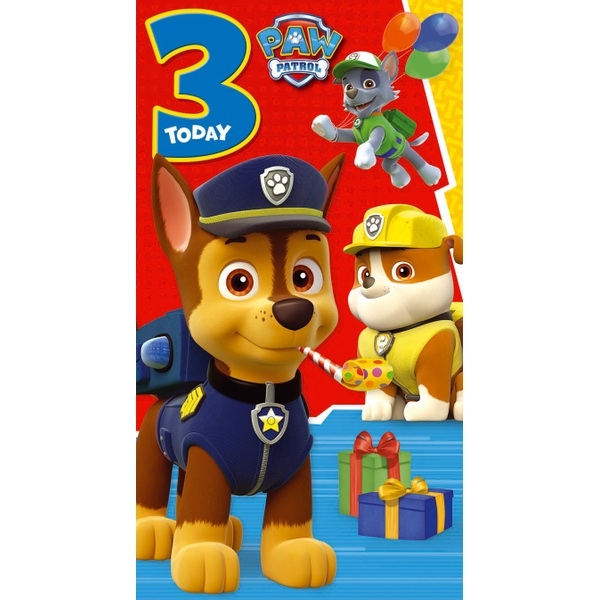 PAW Patrol Age 3 Birthday Card Assortment