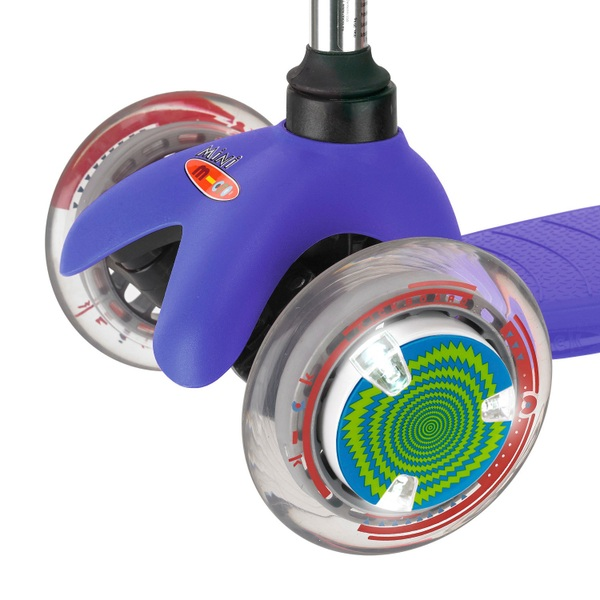 Micro Wheel Whizzer 2PK LED Green Blue