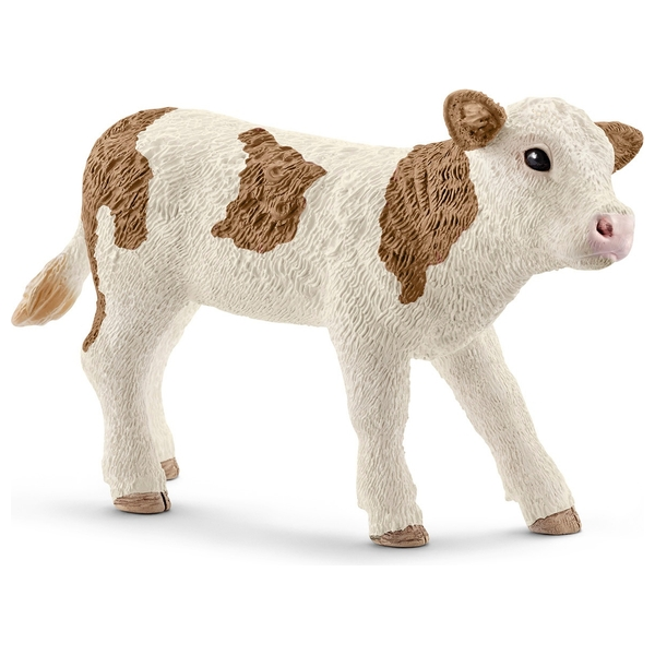Schleich Simmental Calf Figure