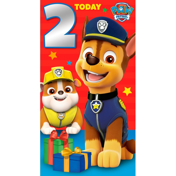 Paw Patrol Age Birthday Card