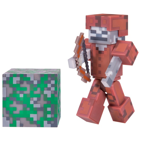 Minecraft 7cm Skeleton In Leather Armour Figure Pack