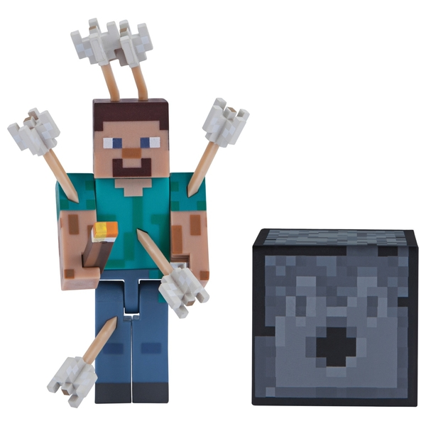 Minecraft 7cm Action Figure- Steve with Arrows (Assortment) Series 4