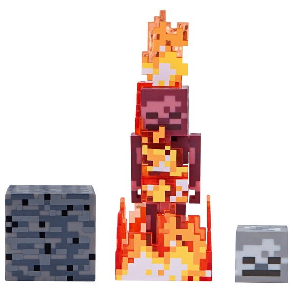 Minecraft 7cm Action Figure Skeleton On Fire Series 4