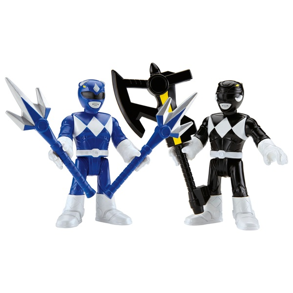 Imaginext Power Rangers Basic Figure 2-Pack Blue and Black Ranger