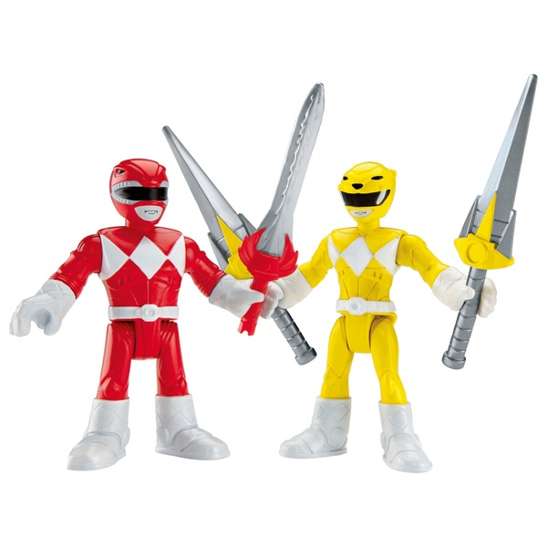 Imaginext Power Rangers Basic Figure 2-Pack Red and Yellow Rangers