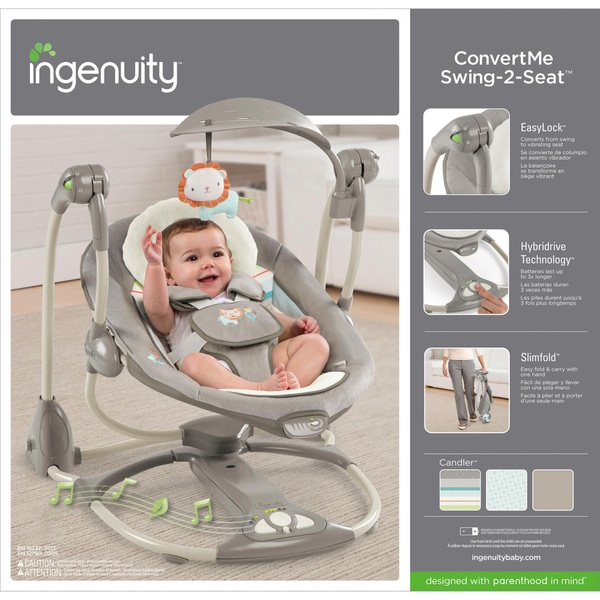 ingenuity convertme swing 2 seat portable swing candler baby