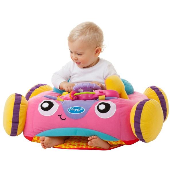 playgro grow n 39 play music lights comfy car pink infant toys uk. Black Bedroom Furniture Sets. Home Design Ideas