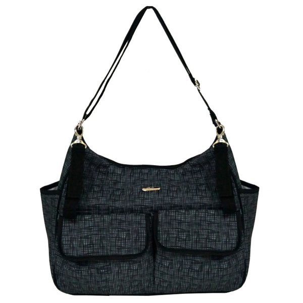 BiiBi Changing Bag Cross Thatch Black
