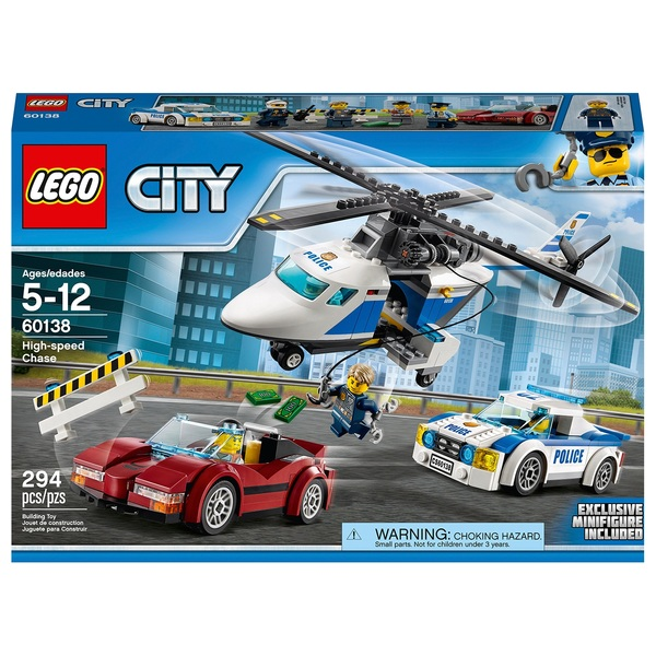 Lego 60138 City Police High Speed Chase Car And Helicopter Toy
