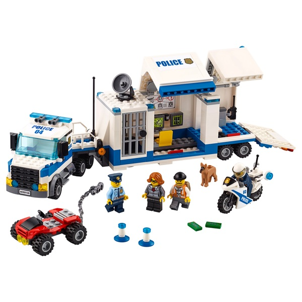 Lego 60139 City Police Mobile Command Center Toy Truck Bike Lego