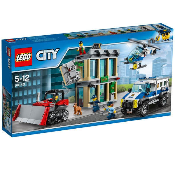 LEGO 60140 City Bulldozer Break in Helicopter & Truck Toy