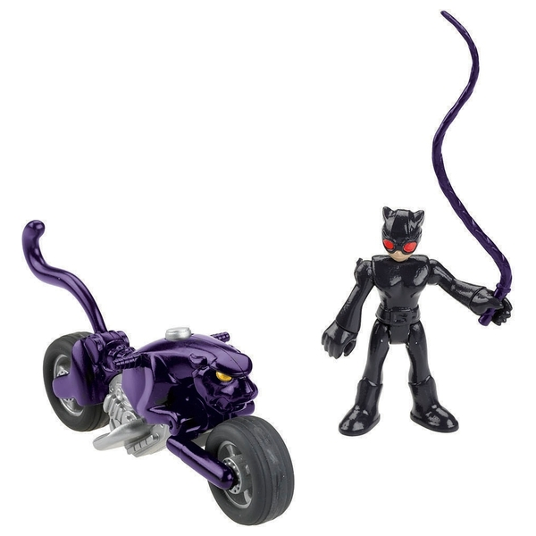 Imaginext Streets of Gotham City  Catwoman & Cycle 19cm