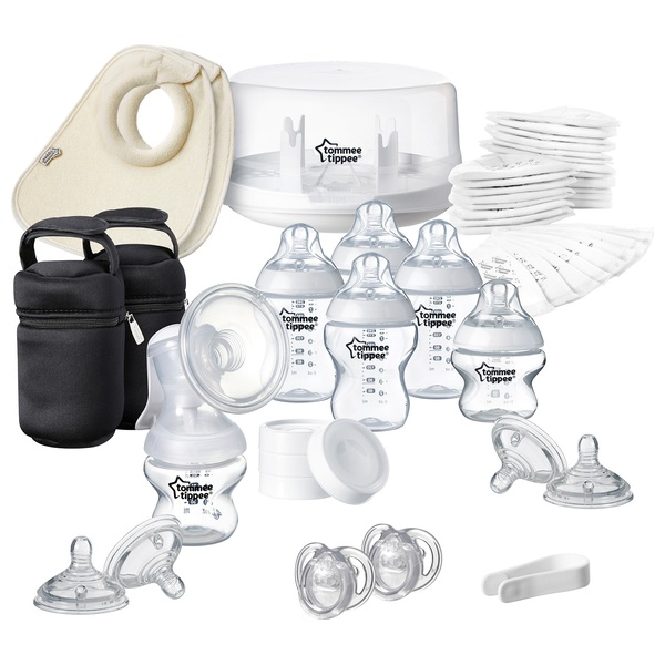 Tommee Tippee Microwave Steriliser and Manual Breast Pump Kit