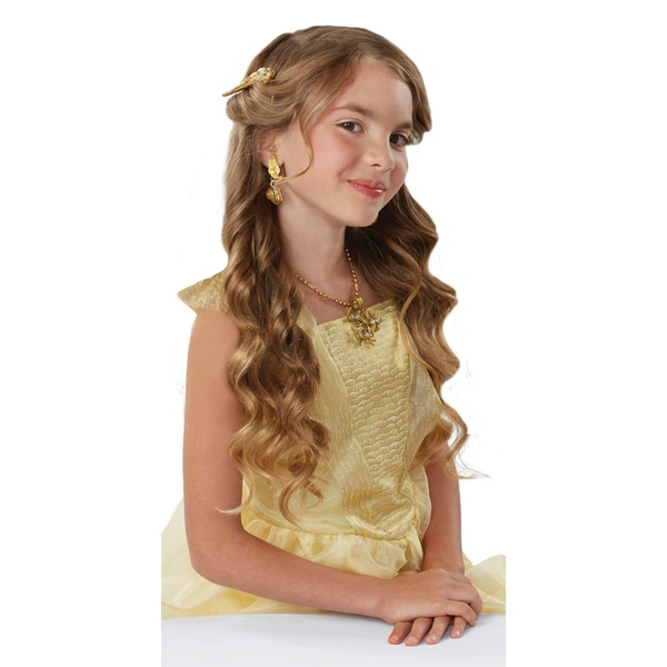 How To Create Belles Hairstyle From Beauty And The Beast : Disney beauty and the beast belles dress up accessory set