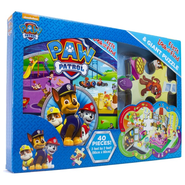 Paw Patrol, My First Look & Find Book & Floor Puzzle