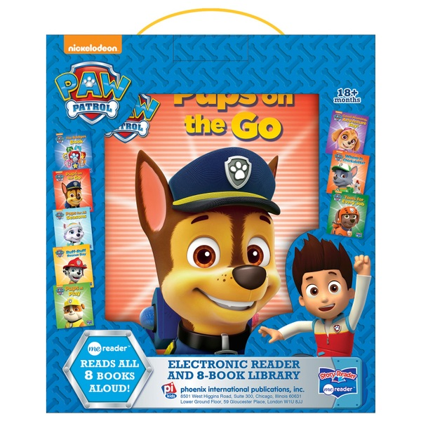 Nickelodeon Paw Patrol Electronic Reader & 8 Book Library