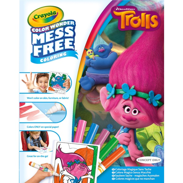 Crayola Trolls Color Wonder Mess Free Colouring Book - Crayola UK