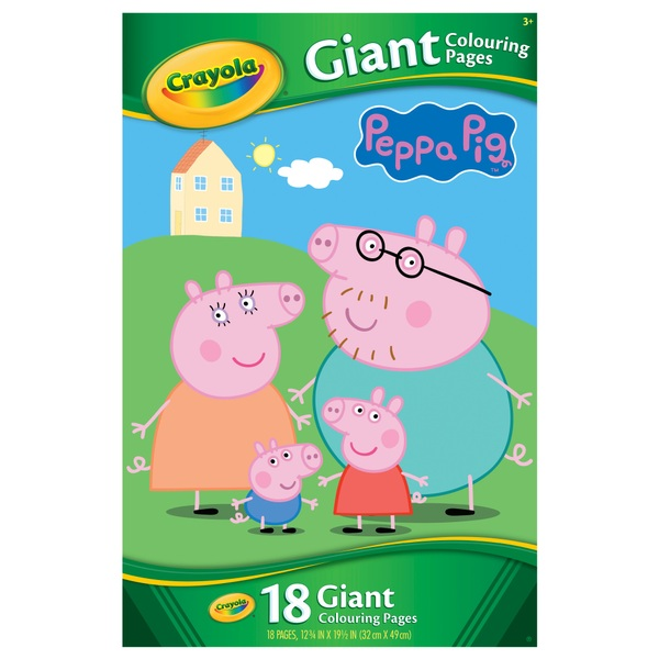 Crayola Peppa Pig Giant Colouring Pages Book