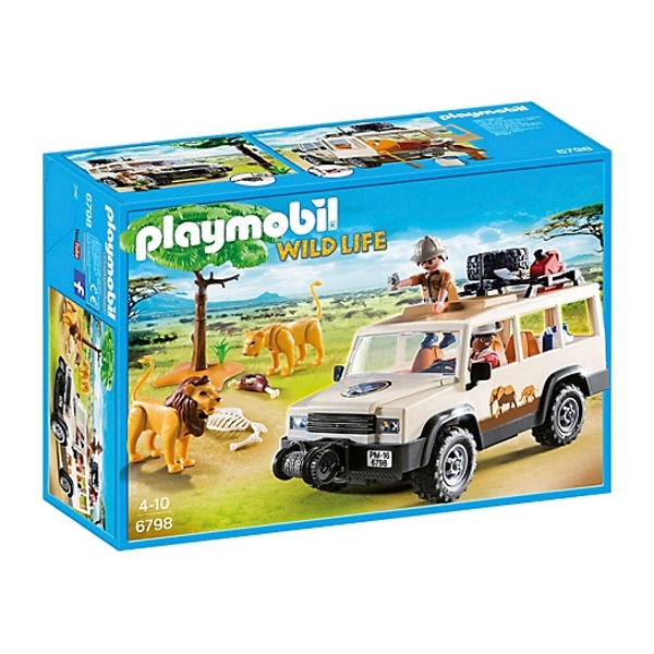 playmobil safari truck with lions 6798 playmobil ireland. Black Bedroom Furniture Sets. Home Design Ideas