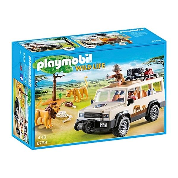 playmobil safari truck with lions 6798
