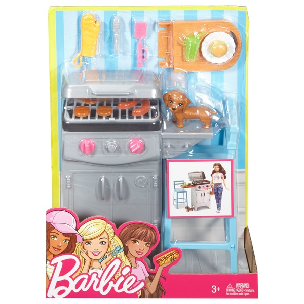 Barbie Outdoor Furniture Barbeque & Puppy Playset - Assortment