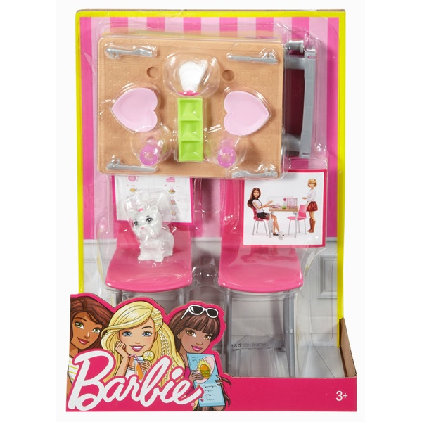 Barbie Indoor Furniture Dining Set & Kitten - Assortment