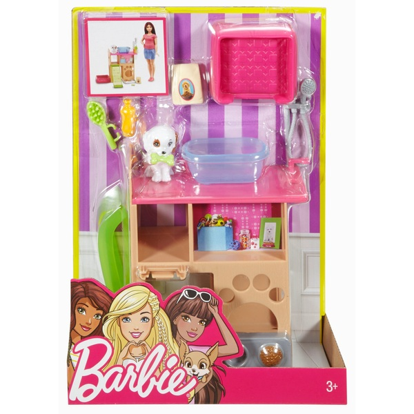 Barbie Indoor Furniture Pet Station and Puppy Playset - Assortment