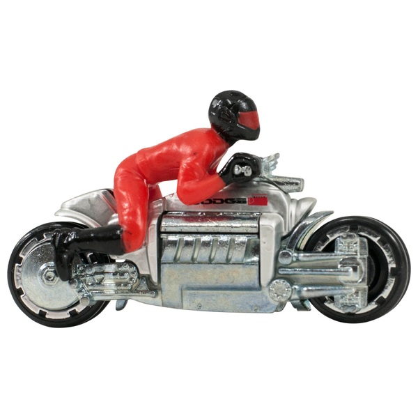 Hot Wheels 1:64 Scale Motorcycle with Rider Dodge Tomahawk