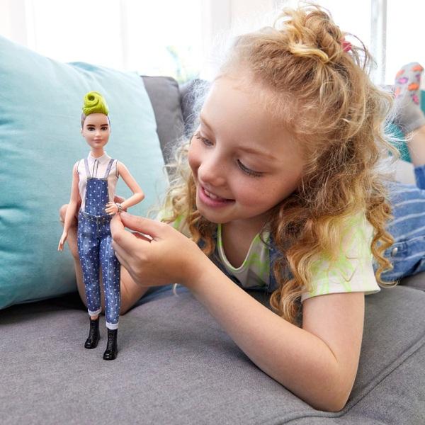 Barbie Fashionista Doll 124  Dotty Denim Dungarees
