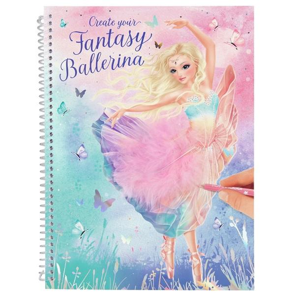 TOPModel Create Your Fantasy Model Colouring Book