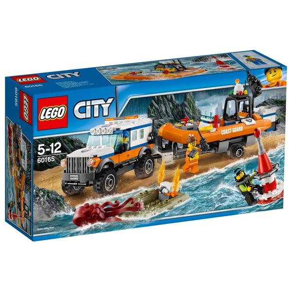 LEGO 60165 City Coast Guard Unit 4x4 Car Construction Toy