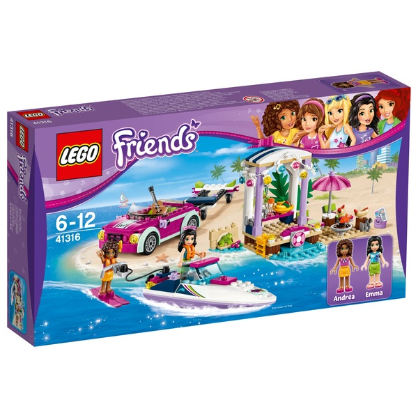 LEGO 41316 Friends Andrea's Speedboat Transporter Toy