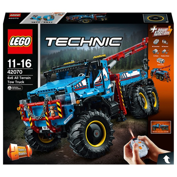 LEGO 42070 Technic 6x6 All Terrain Tow Truck RC Toy