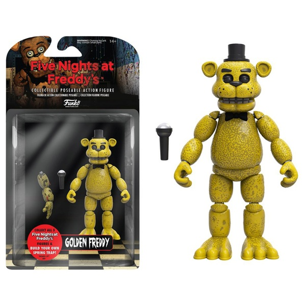 Five Nights At Freddy's Gold Freddy 13cm Action Figure