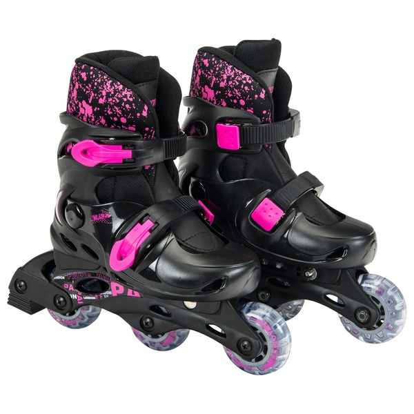 Adjustable Inline Skates – Black & Pink  UK 13 - 2.5