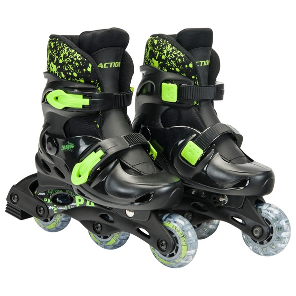 Adjustable Inline Skates – Black & Green UK13 - 2.5