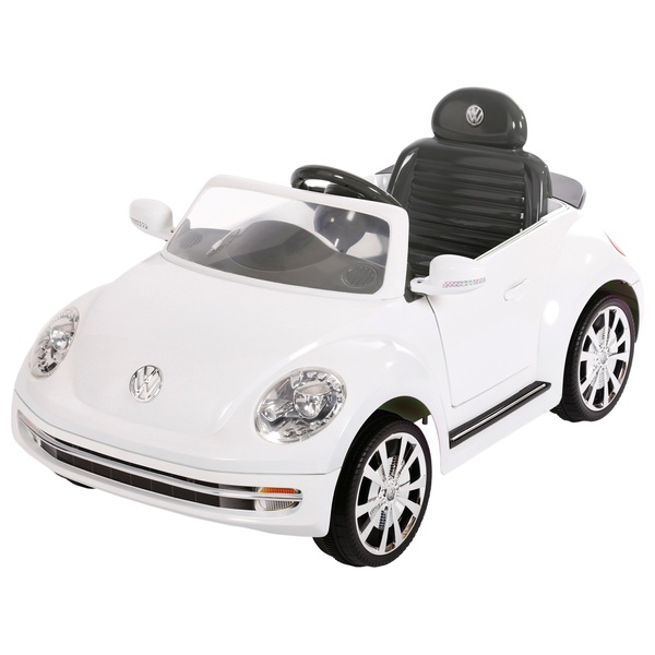 volkswagen beetle white electric ride  electric ride ons uk