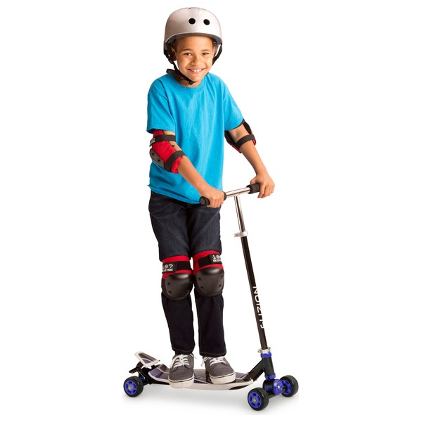 Fuzion Quad Carving Scooter 4x4 Blue