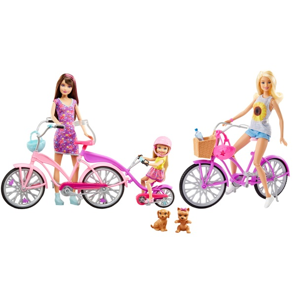 Barbie Camping Fun Dolls Bikes Accessories Set Barbie Uk